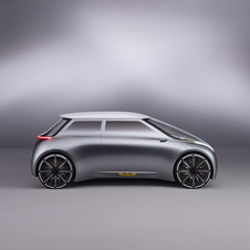 In terms of the concept's design it features a boxy shape without hood, but with an elongates windscreen
