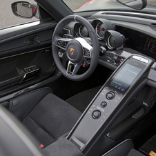 The interior is meant to be race-inspired and driver focused