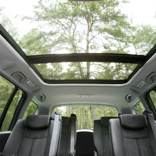 The large sunroof lets air into all 7 seats