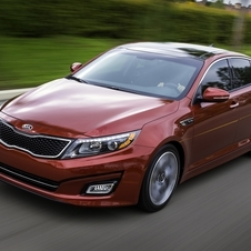 The refreshed Optima has a new front bumper look