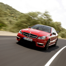 The C63 AMG fights against the RS4, M3 and IS-F