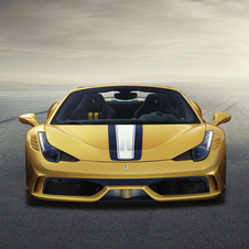 The car has the most powerful naturally aspirated V8 engine ever built by Ferrari