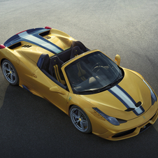 The 458 Speciale A reaches 100km/h in 3.0 seconds