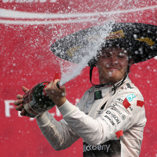In Mexico's return to Formula 1, 23 years later, it was Nico Rosberg who was in charge of celebration