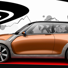 The car is actually only a holograph for Mini's Design@Home event
