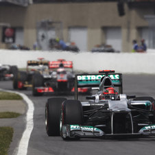 Schumacher has finished two races this season, both in 10th place, and he has scored 2 points