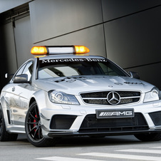 The car is powered by the AMG 6.3l V8 with 517hp.