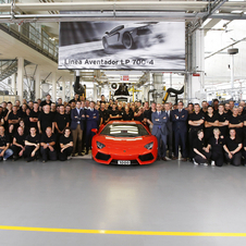 The Aventador hit the 1000 cars production point nearly twice as fast as the Murcielago