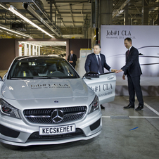 The first CLA off the line was greeted by the Hungarian prime minister and Daimler chairman