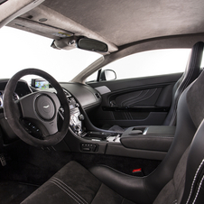 The interior gets a mix of black leather and black alcantara