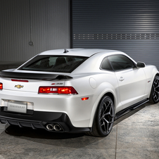 The refreshed Camaro has been restyled to accentuate the car's wideness