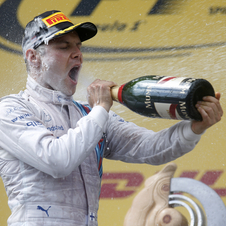 Valteri Bottas was on the podium after a great weekend for Williams