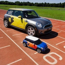 The car is a 1/4 scale Mini