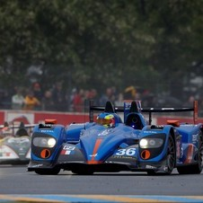 The Alpine team is in second-place in the LMP2 class in the ELMS
