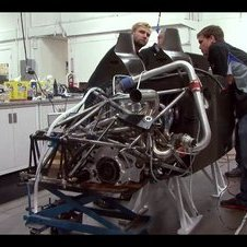 The video shows the engine being started for the first time