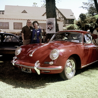 A Porsche club meeting in Del Mar, California, in 1963
