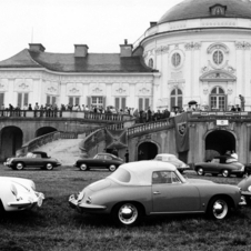 A Porsche Club of America meeting at the Solitude castle near Stuttgart, Germany