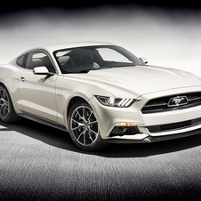 The Mustang 50 Year Limited Edition also gets a unique logo to mark the uniqueness of this edition