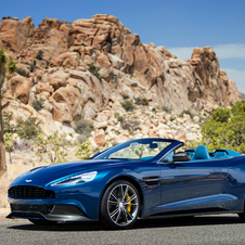 It is the first Aston Martin Volante where the windshield's glass runs all the way to the roof