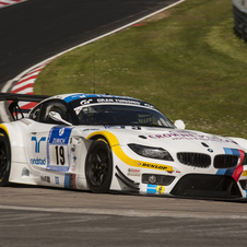The BMW Z4 GT3 that qualifed on pole managed 7th overall