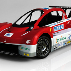 The i-MiEV Evolution has a tube frame chassis with a carbon fiber body and all-wheel drive, electric powertrain