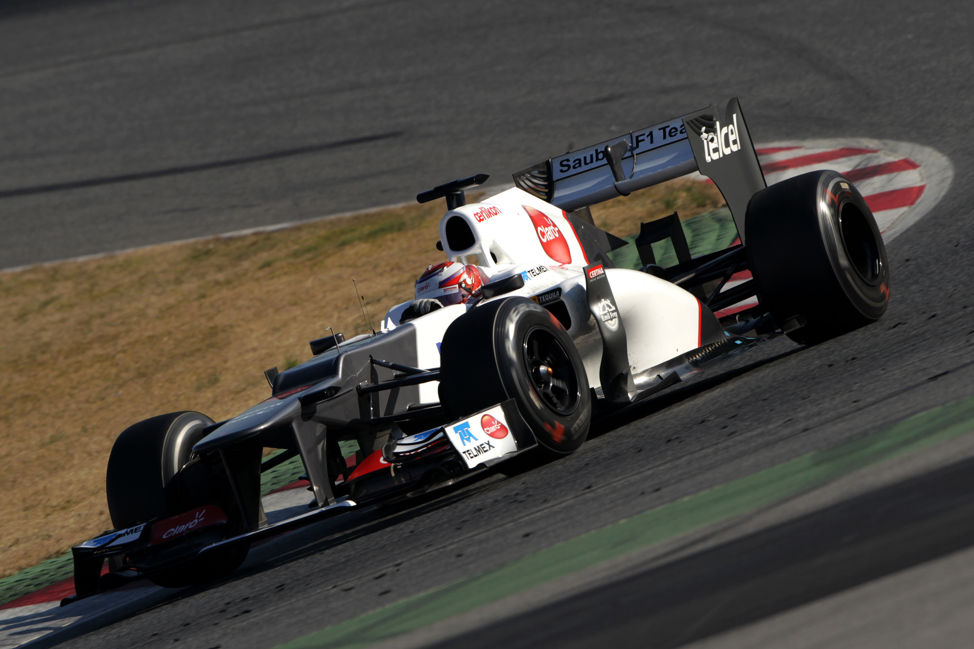 Sauber Driver Kamui Kobayashi Fastest Driver on Day 4 of F1 Testing
