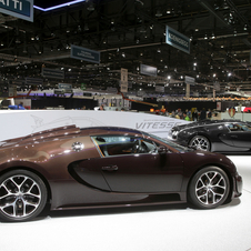 The cars show off Bugatti's ability to tint carbon fiber