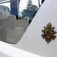 The Popemobiles are always diamond white