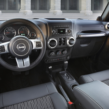 The interior gets an aluminum and leather steering wheel, black cloth seats and aluminum trim