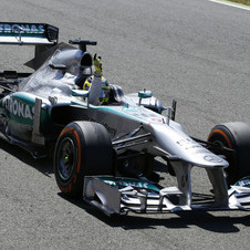 Nico Rosberg did not have tire problems but his teammate Lewis Hamilton did