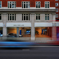 The BMW i Park Lane is located next to BMW and Mini's showrooms in London