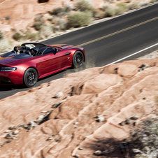 the V12 Vantage S Roadster can reach 100km/h in 4.1 seconds...