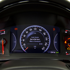 The instrument panel is a separate 8in screen