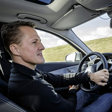 Schumacher was invited to Mercedes' SimCity to test the new C-Class