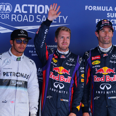 Vettel took first place ahead of Hamilton and Webber