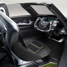 The interior is inspired by a glider