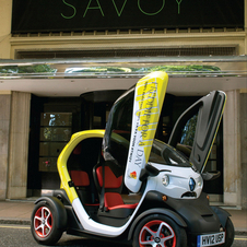 The Twizy has a 60-mile range