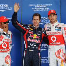 Vettel takes pole and closes on title