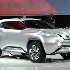 Nissan showed the TeRRA FCEV concept at the Paris Motor Show