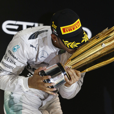In Abu Dhabi the British driver had double reasons to celebrate