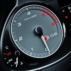 Audi added grey instruments with white needles