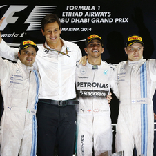 The two Williams completed the podium alongside the new wolrd champion