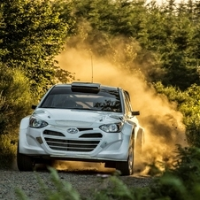 The i20 WRC is being tested in the southern  France