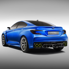 The WRX concept has a carbon fiber roof and chunky rear end