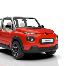 The e-Mehari has a convertible configuration with a muscular SUV-style bodywork