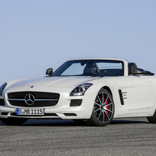 A refreshed SLS AMG GT Roadster has been spotted testing