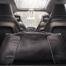 "The exclusive trim inside the car is described as ""woven texture embossed"" aluminium and the vehcile gets tablet docking stations"