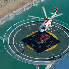 The helipad is 1,000 feet off the ground