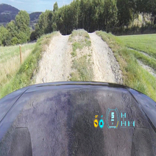 New technology allows visibility under and immediately in front of the bonnet