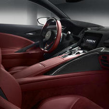 The latest NSX also has an interior